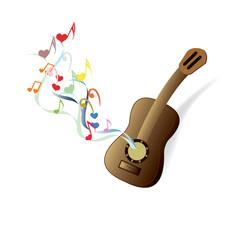 classical guitar brown
