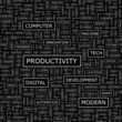 PRODUCTIVITY. Word cloud concept illustration.