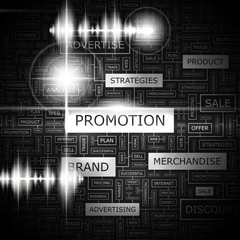 PROMOTION. Word cloud concept illustration.