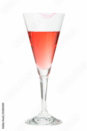 Lippenstift am Sektglas
