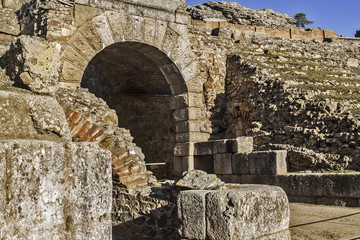 Roman amphitheatre detail