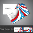 American Flag 4th july business card set  wave design vector