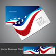 American Flag 4th july business card set