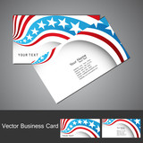 American Flag 4th july business card set  illustration