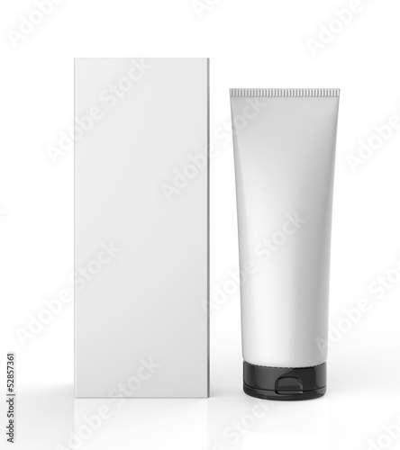 Standing White Tube with Package