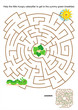Maze game for kids with little hungry caterpillar