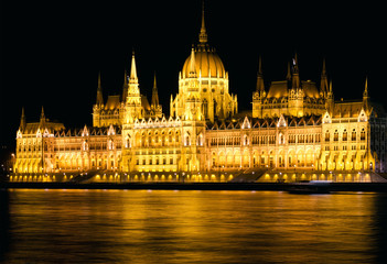 Budapest Parliament Night Shot