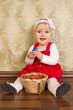 kleinkind mit osterkorb