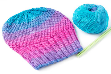 Hat, Yarn and Needles