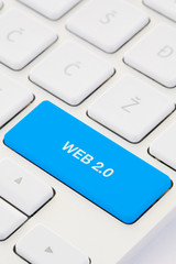 WEB 2.0 Text OnComputer Key