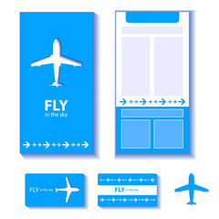 airplane corporate identity