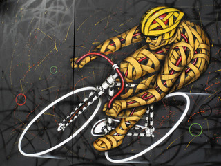 Graffiti Racing Cyclist