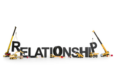 Developing a relationship: Machines building word.