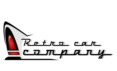 retro car company logo
