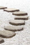 Zen stone path in a Japanese Garden