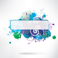 Abstract background with splash