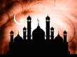 religious eid background with mosque.