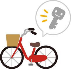 自転車と鍵のイメージ