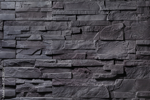 Texture of gray stone wall