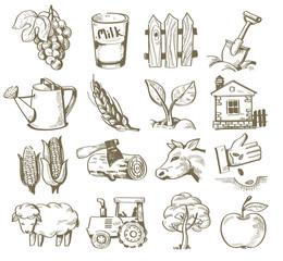 hand draw village