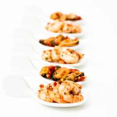 delicious shrimp and Mussel