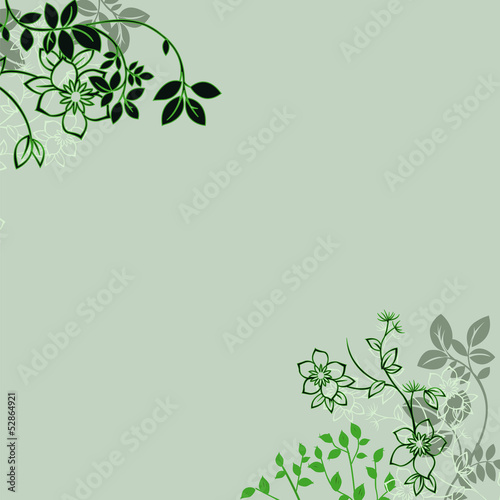 Floral greeting card ,abstract, background..