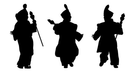 silhouettes of little prince from orient