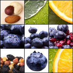 collage of tasty summer fruits