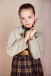 portrait of fashion little girl