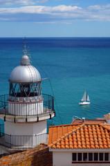 Phare sur la cote méditerranéenne