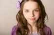 closeup portrait beautiful  little girl
