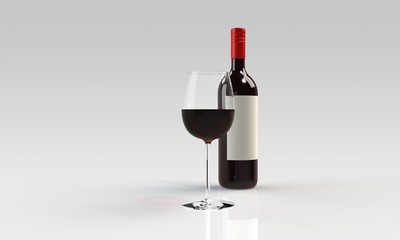 red wine and full glass
