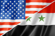 USA and Syria flag