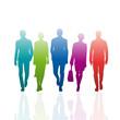 Vector Rainbow Teamwork Background
