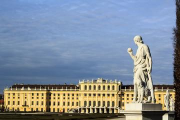 Vienna - Greek statue with the Schonbrunn palace
