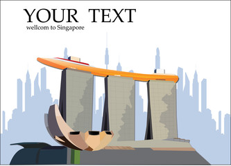 Marina Bay sands hotel, Singapore vector