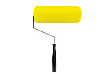 Yellow Paint roller isolated