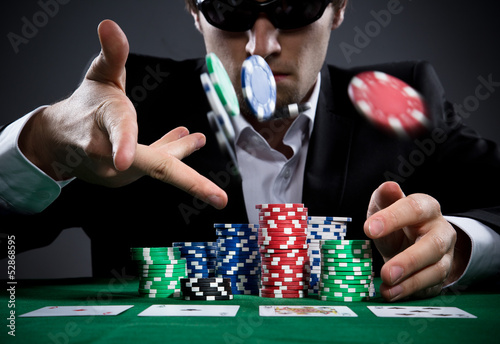 Poster Poker player