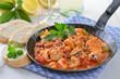 Fischragout in pikanter Tomatensoße