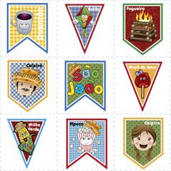 Bandeirolas Juninas