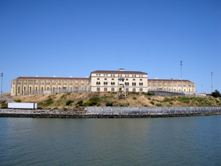 San Quentin State Prison California taken from a passing ferry