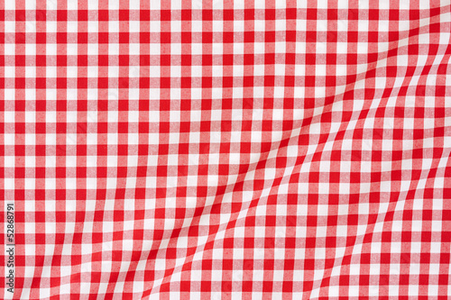 Red and white tablecloth texture background