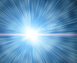 Fototapety flash on a blue background