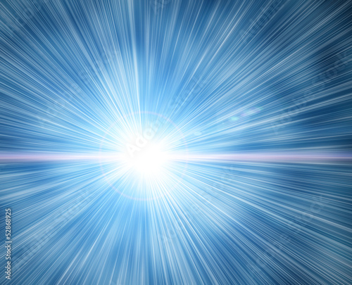 flash on a blue background