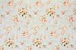 Leinwanddruck Bild - Rose floral tapestry, romantic texture background