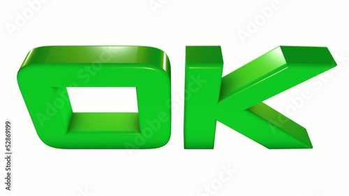 3D green OK light version