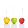 apples with straws