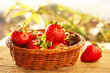 Home Grown Strawberries in Baskets
