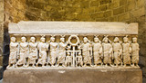 Palermo - Relief from  medieval tombs under cathedral