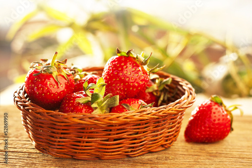 Home Grown Strawberries in Baskets